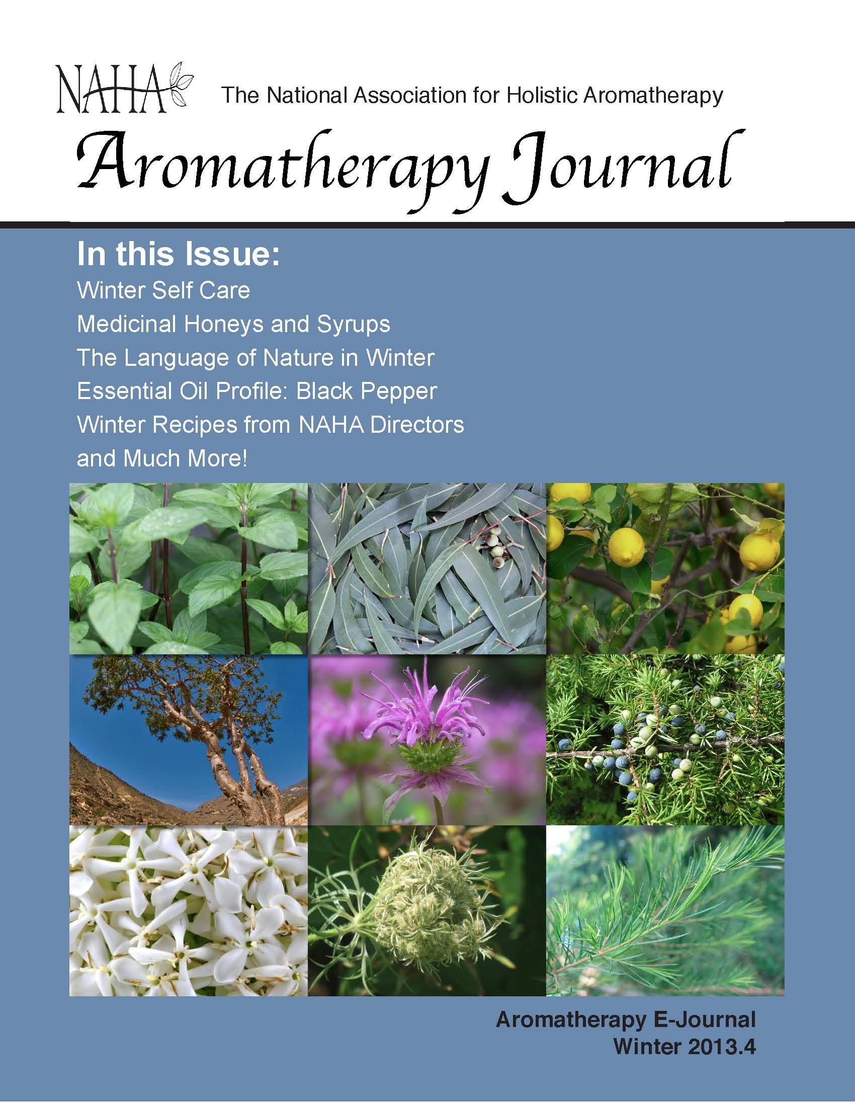 NAHA's Aromatherapy Journal Winter 2013.4