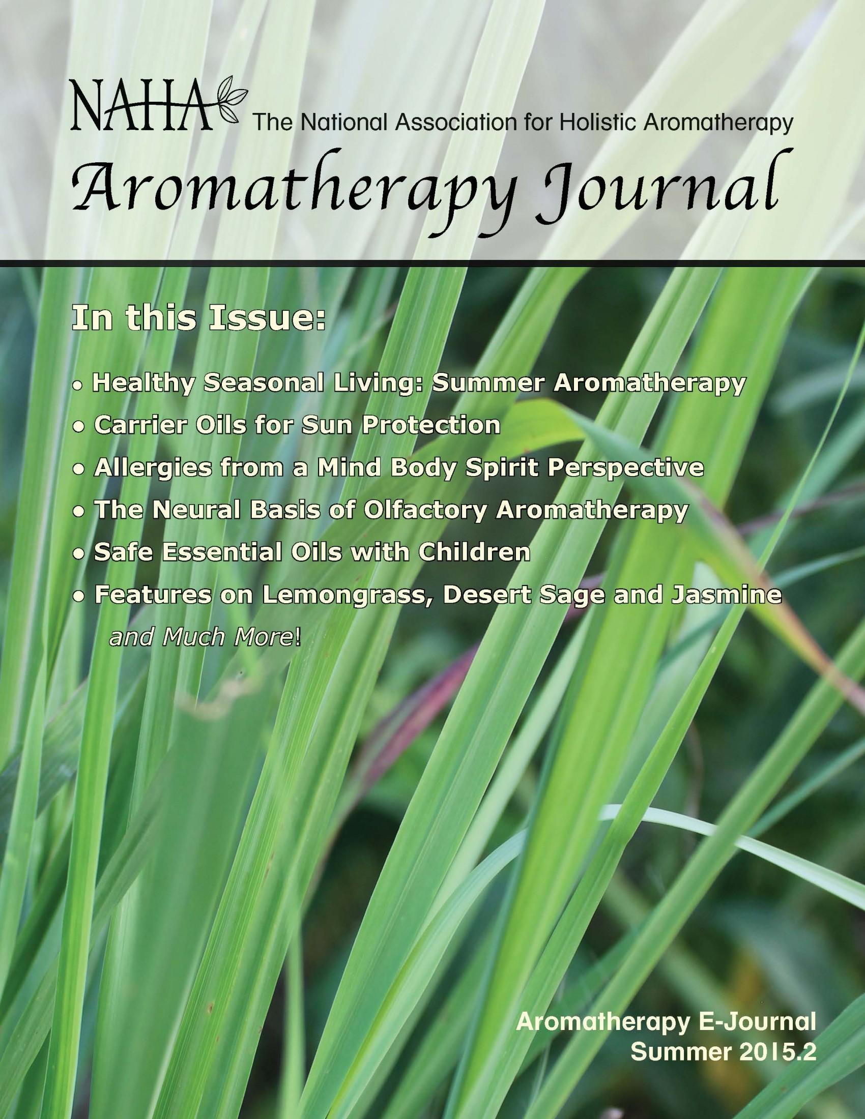 NAHA's Aromatherapy Journal Summer 2015.2